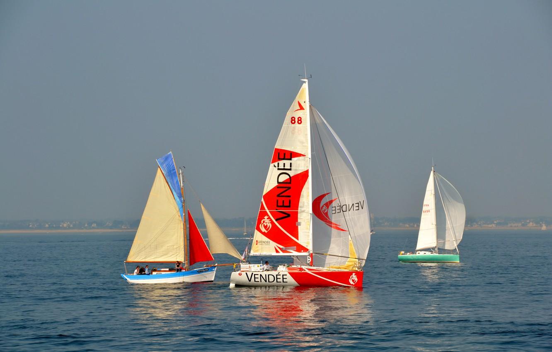Фото обои море, небо, яхта, парус, регата