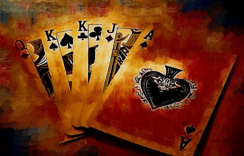 Фото обои карты, деньги, покер