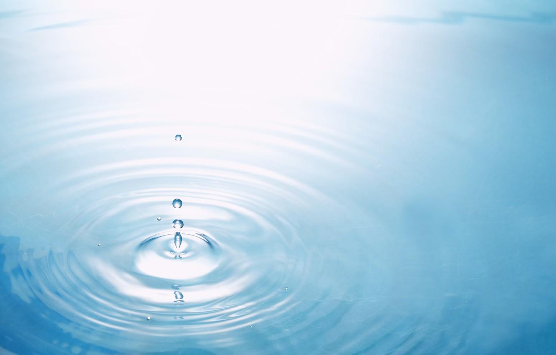 Фото обои вода, круги, голубой, капля, текстуры, обои от lolita777