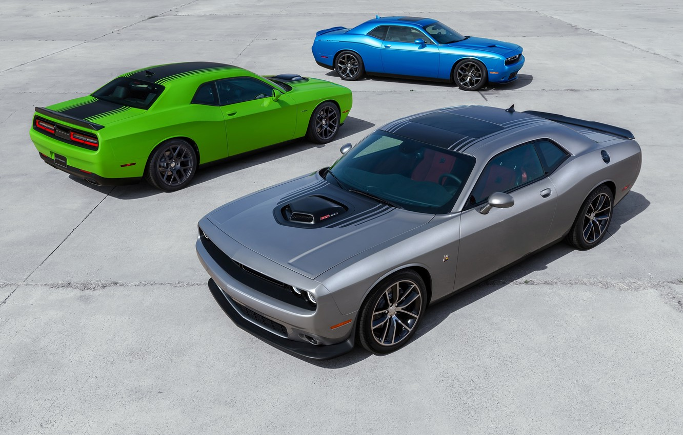 Фото обои Dodge, Challenger, auto, wallpapers, new, R/T, 2015