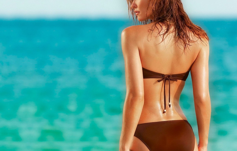 Фото обои море, пляж, женщина