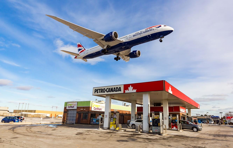 Фото обои Небо, Самолет, Boeing, Авиация, Пассажирский, 787-9