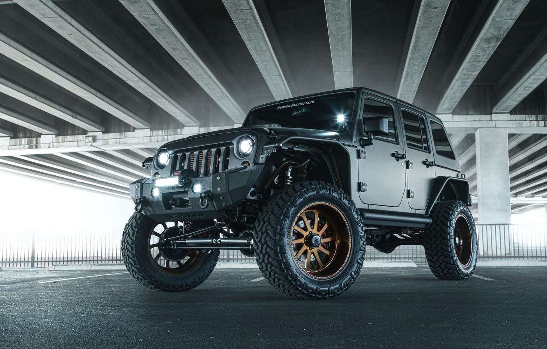 Фото обои Джип, Внедорожник, Nighthawk, Wrangler, Jeep, 2014