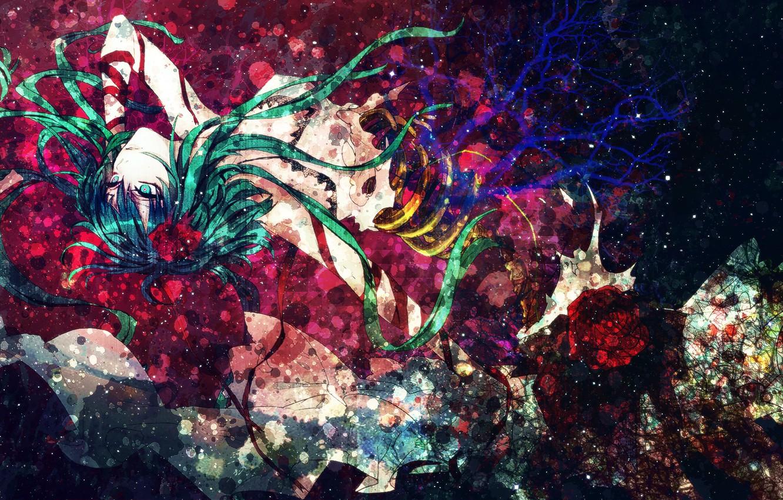 Фото обои девушка, абстракция, стиль, аниме, арт, киборг, vocaloid, gumi, deko, czc