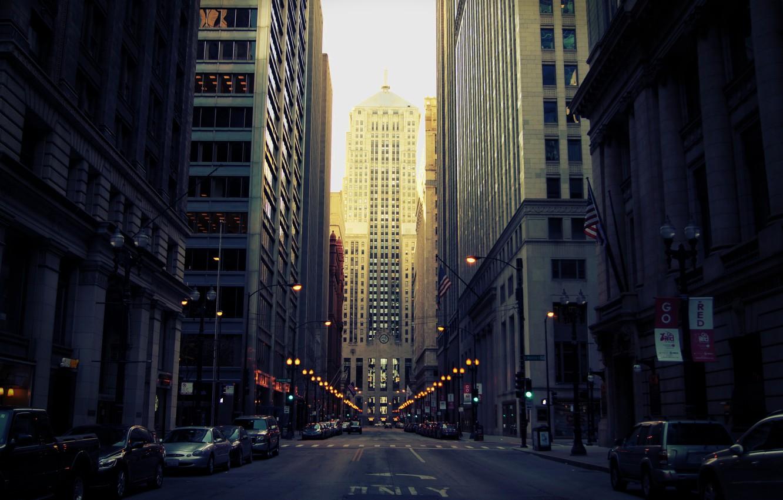 Обои высотки, чикаго, chicago, небоскребы, center. Города foto 7