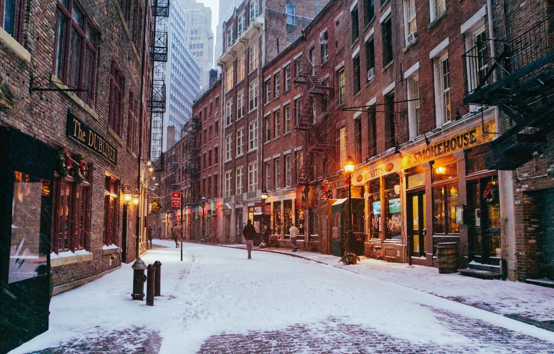 Обои Nyc, manhattan, new york, winter. Города foto 9