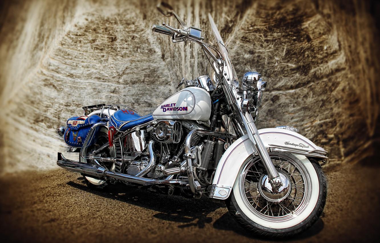 Фото обои HDR, мотоцикл, Harley-Davidson