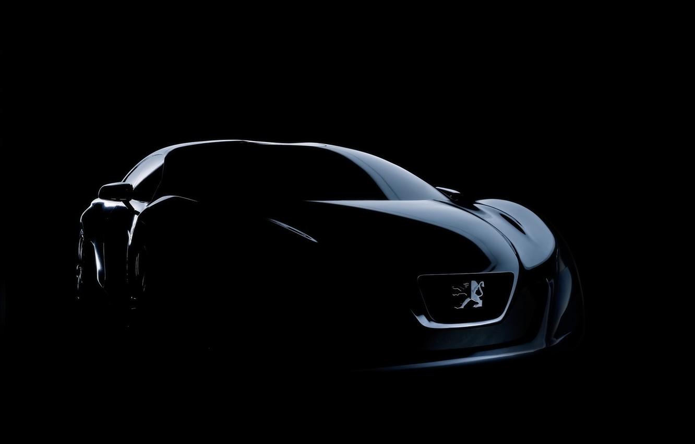 Фото обои машина, авто, темно, peugeot, concep