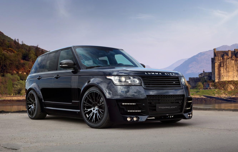 Фото обои Land Rover, Range Rover, Sky, Front, Black, Tuning, Lumma Design