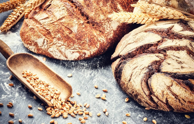 Фото обои пшеница, зерна, хлеб, fresh, выпечка, булка, мука, bread