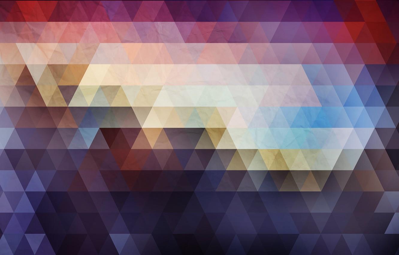 Обои Цвет, абстракция, треугольник. Абстракции foto 9