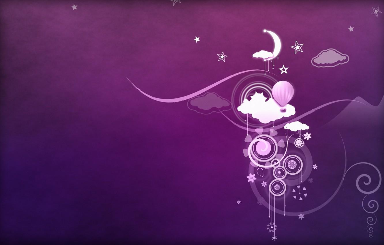 Обои фиолетовый фон, абстракция, рисунки. Абстракции foto 16