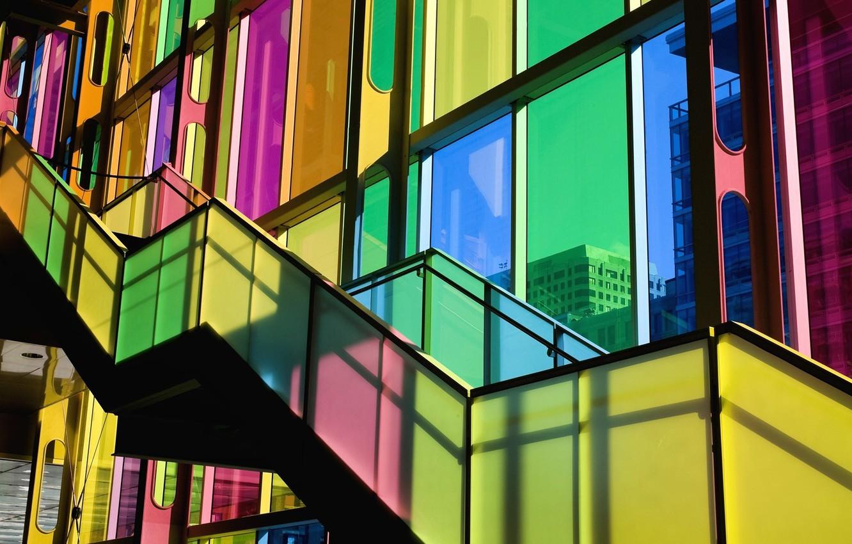Обои лестница, Цвет, Витраж, стекло, окно. Города foto 6