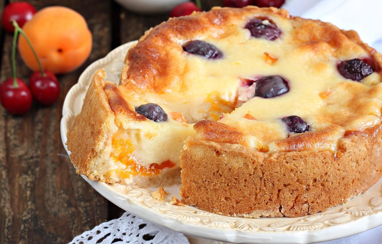 Обои пирог, выпечка, абрикосы. Еда foto 10