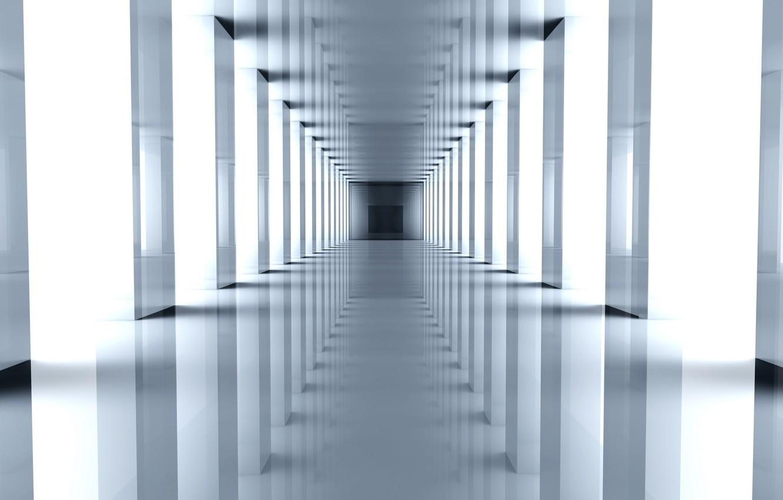 Фото обои пространство, перспектива, коридор