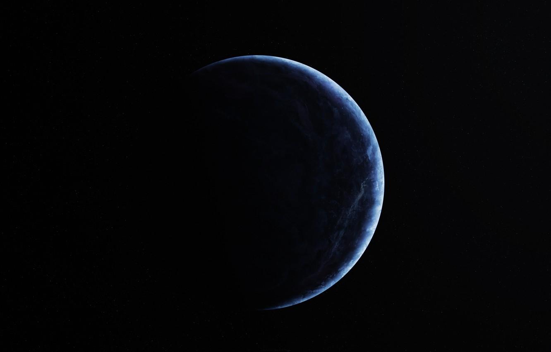 Фото обои dark, blue, planet, sci fi