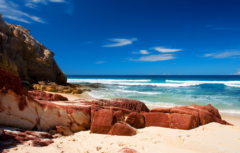 Фото обои море, волны, вода, природа, камни, океан, берег, пейзажи, пляжи