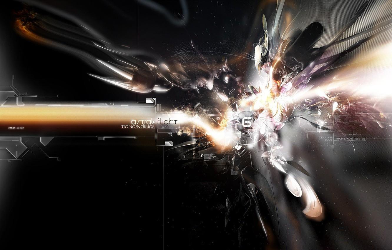 Фото обои полет, взрыв, пластины, осколки
