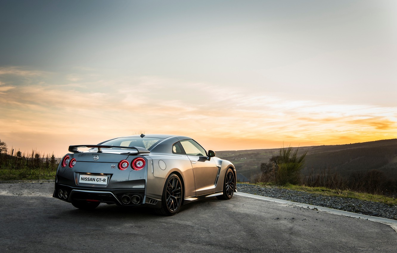 Фото обои car, wallpaper, silver, Nissan, GT-R, автомобиль, вид сзади, ниссан, красавец