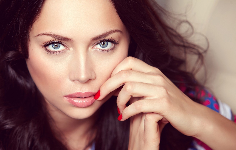 Фото обои взгляд, актриса, blue eyes, настасья Самбурская