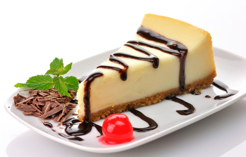 Фото обои вишня, шоколад, торт, пирожное, cake, десерт, выпечка, тортик, сладкое, chocolate, глазурь, dessert, чизкейк, кусочек, cheesecake