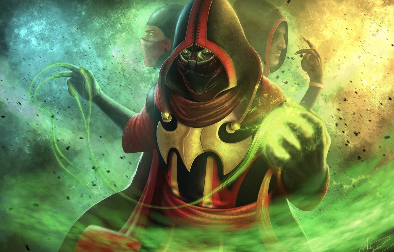 Фото обои боец, game, Mortal Kombat, ninja, fighting, skins, Ermac