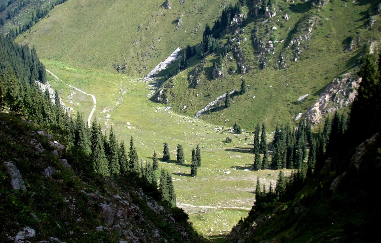 Oboi Gory Ushele Kazahstan Lunnaya Polyana Kartinki Na Rabochij