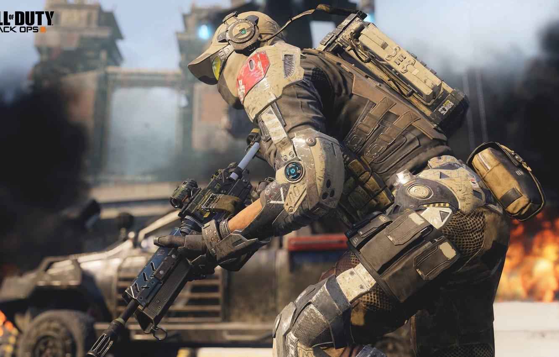 Фото обои будущее, война, солдат, Call of Duty: Black Ops 3
