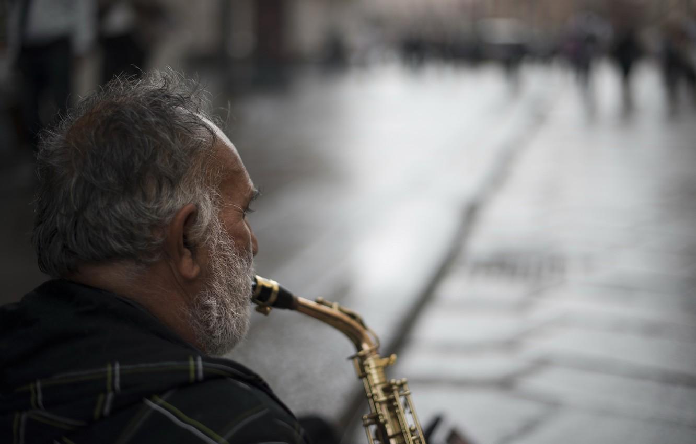 Обои saxophone, музыка, street. Музыка foto 6