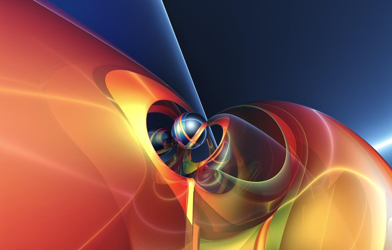 Обои фракталы, Фрактальный узор, свечение. Абстракции foto 9