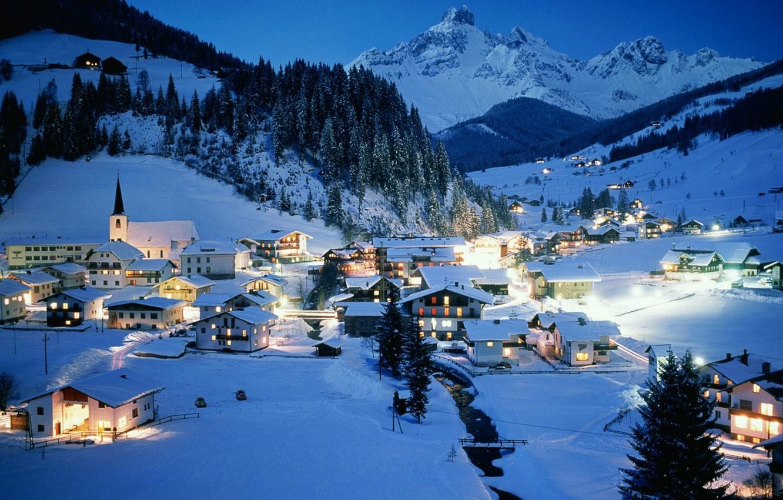 Обои австрия, курорт, ночь, austria. Города foto 6