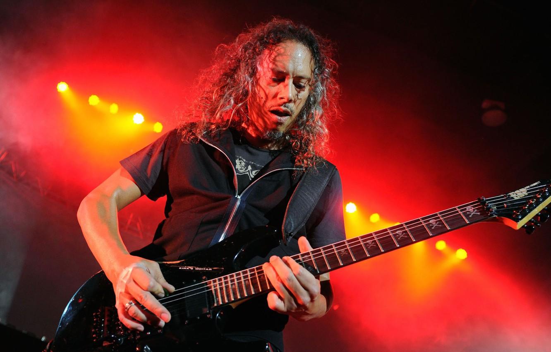Фото обои музыка, сцена, music, концерт, гитарист, Rock, электрогитара, Рок, Metallica, композитор, трэш-метал, thrash metal, тяжелый рок, …