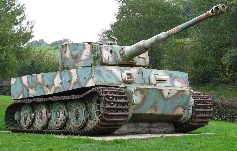Фото обои танк, Tiger, бронетехника, немецкий, тяжёлый