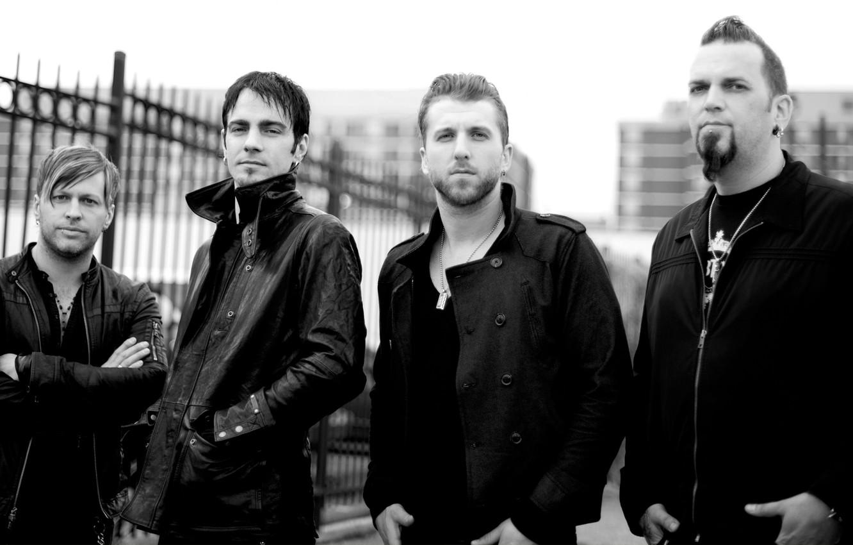 Фото обои рок, Three Days Grace, Adam Gontier, Barry Stock, Brad Walst, Neil Sanderson