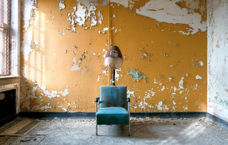 Фото обои фон, кресло, парикмахерская