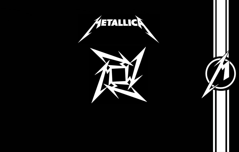 Фото обои музыка, music, лого, logo, Rock, Рок, Metallica, трэш-метал, thrash metal, тяжелый рок, hard rock, heavy …