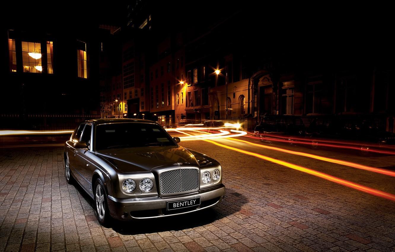 Фото обои улица, Bentley, шлейф, Arnage