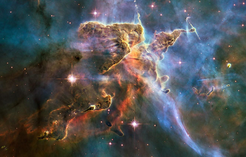 Фото обои космос, туманность, NASA, Hubble, starkiteckt