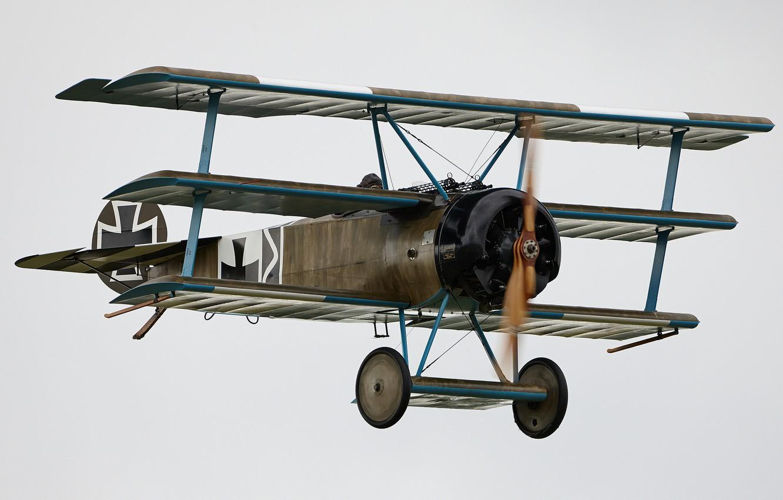 Обои сил, триплан, Fokker dr.1, военно-воздушных, истребитель. Авиация foto 6