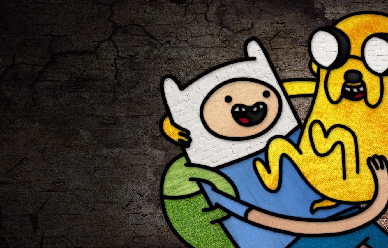 Фото обои Jake, Adventure Time, Finn