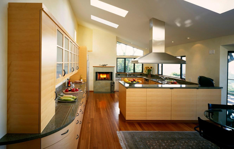 Фото обои дизайн, стиль, комната, огонь, еда, интерьер, кухня, камин, фрукты, квартира, овощи