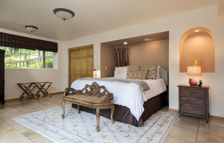 Фото обои дизайн, кровать, спальня, комод, декор, ниша