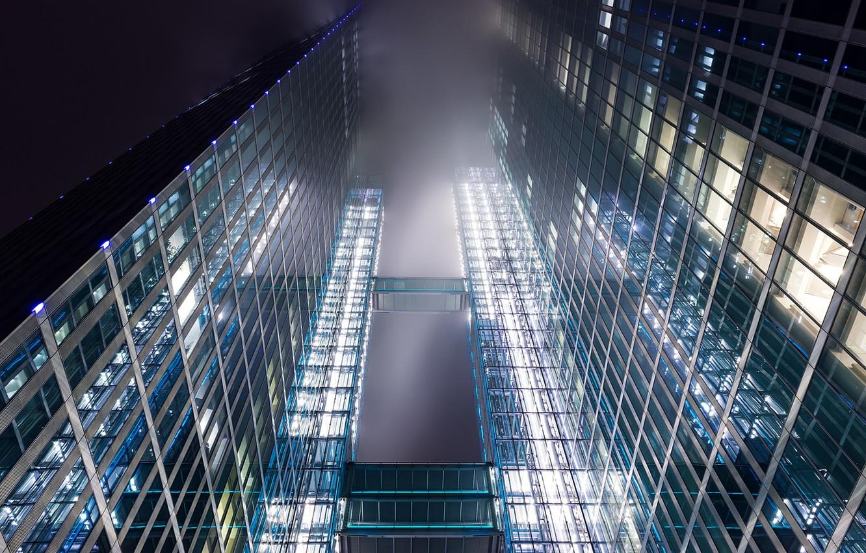 Обои Облака, здания, стекло, небоскребы. Города foto 8