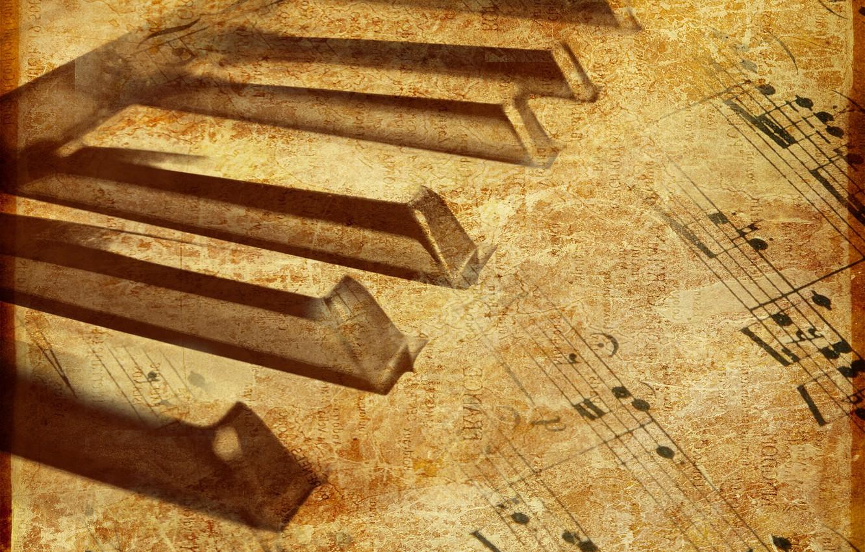 Фото обои музыка, Ноты, пианино, текстуры