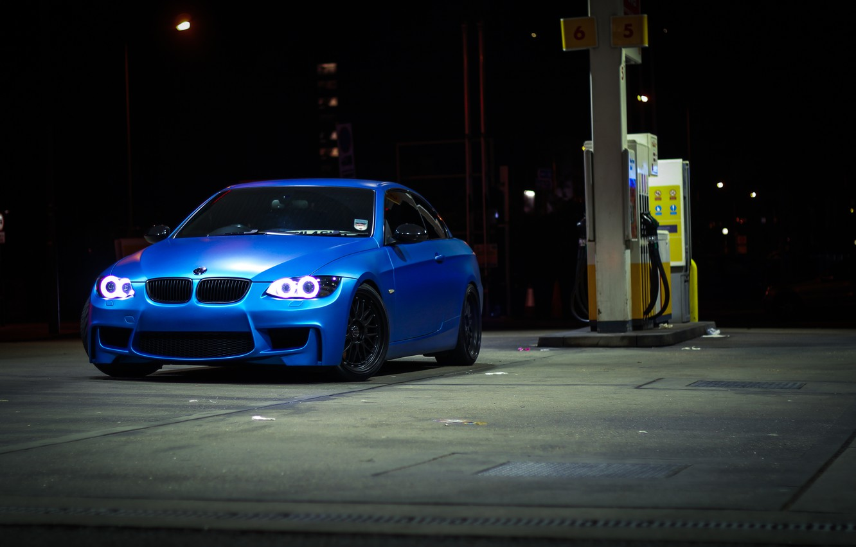 Фото обои синий, bmw, бмв, заправка, кабриолет, blue, 335i, e93