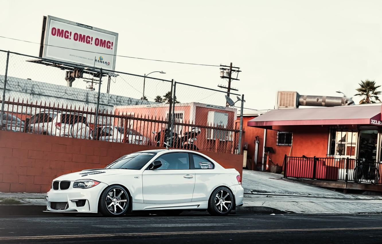 Фото обои белый, бмв, BMW, white, 1 серия