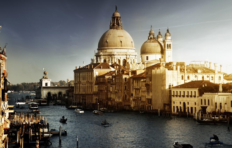 Обои венеция, italy, гондолы, здания, лодки, канал, venice. Города foto 7