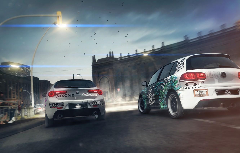Обои car, Race, mk7, White, by khyzyl saleem, Volkswagen, future. Автомобили foto 10