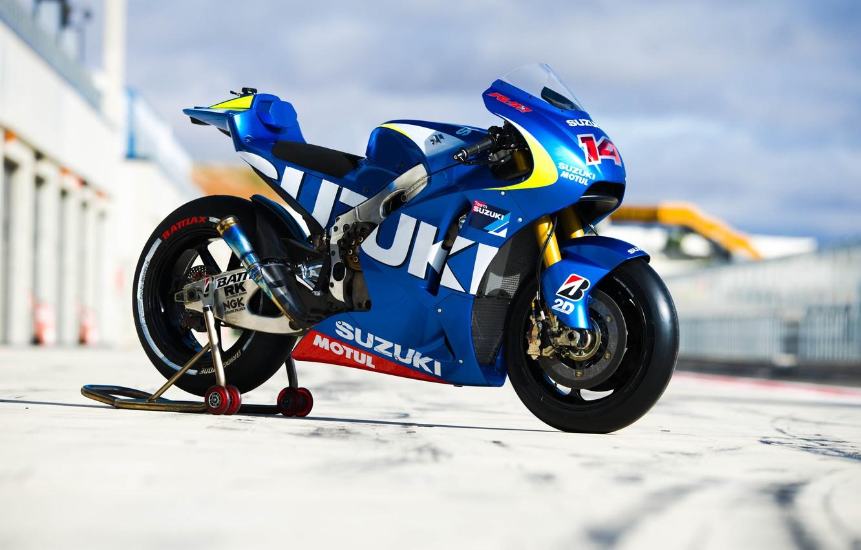 Фото обои Prototype, Suzuki, MotoGP, 2014, GSX-RR