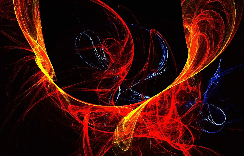 Обои краски, фрактал, лучи. Абстракции foto 8